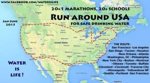 Run around USA map